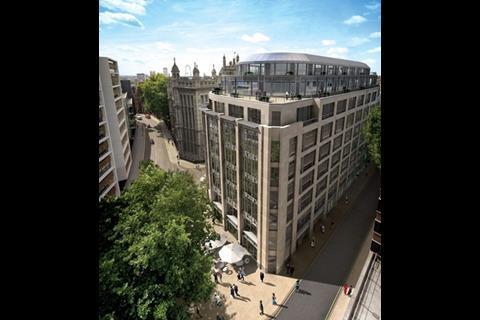 Woods Bagot's design for Delancey Estates' Rolls Building on Fetter Lane in the City of London.